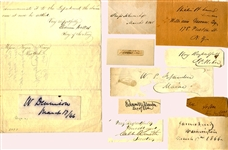 "Lincoln's ""Team of Rivals"" - A Collection of 11 Autographs of Cabinet Members and Advisers"