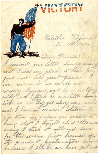 Soldier Letter -believes War to end soon due to Proclamation