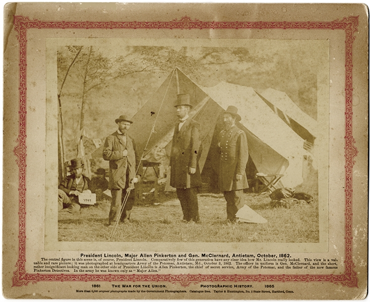 President Lincoln At Antietam Battle Field October 1862 By Alexander Gardner