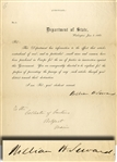 Contraband of War Letter Signed by Secretary Seward