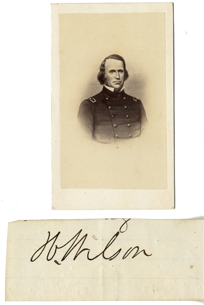 Henry Wilson Autograph and CDV In Civil War Uniform