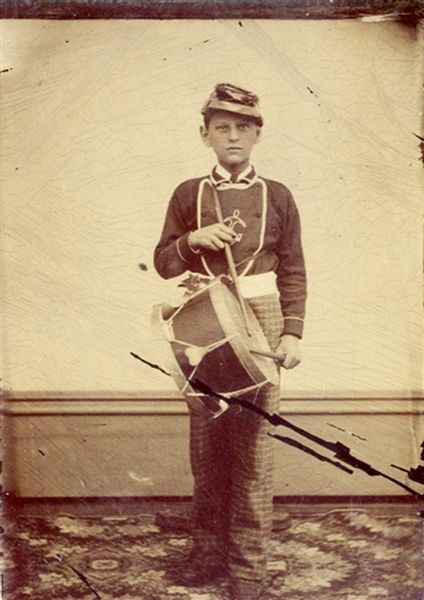 Full Standing Image of a Drummer Boy