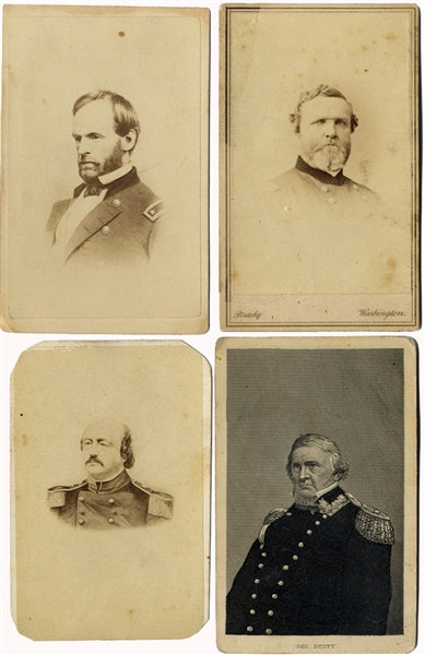 Generals Thomas, Sherman, Scott and Butler