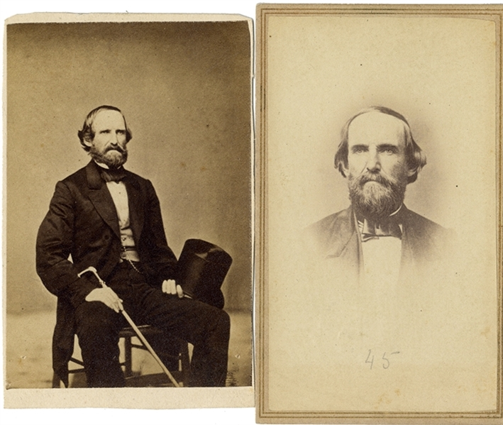 A Rare Pair of  Confederate Brigadier General McCulloch Photographs