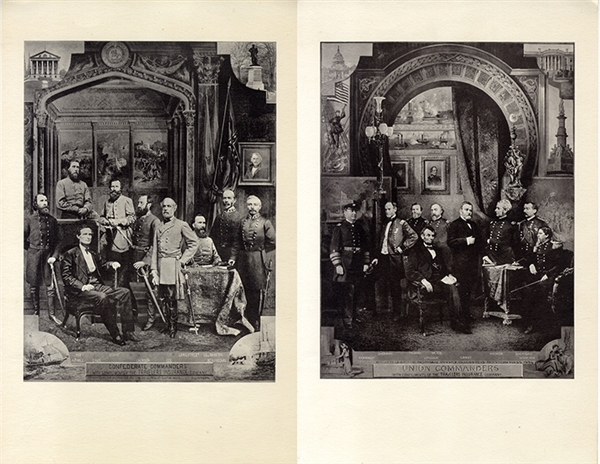 Print of the Confederate and Union Commanders