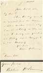 Willilam Henry Seward Autograph Letter Signed a Month Before the 1860 Election