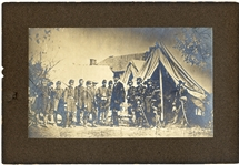 Seminal Portrait of President Abraham Lincoln Meeting George McClellan and Staff in the Aftermath of the Battle of Antietam