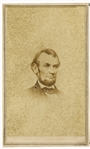 Nice Lincoln CDV with New Jersey Photographer Backmark