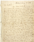 Rare Privateer Surgeon's Letter from the War of 1812