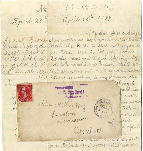 A Pair of Span Am War Letters