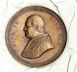 Beautiful Pope Medal Issued Upon The Consecration of the Basilica of St. Paul