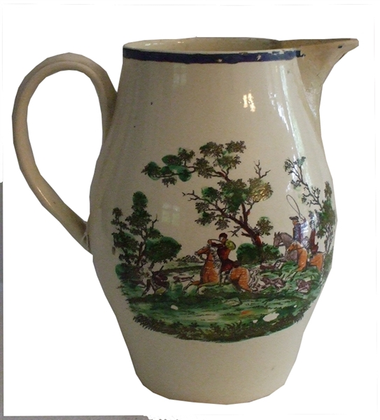Large Decorated  Pitcher