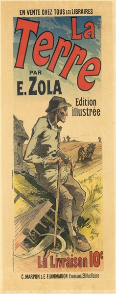 Color Printed Advertising For Emile Zola Book