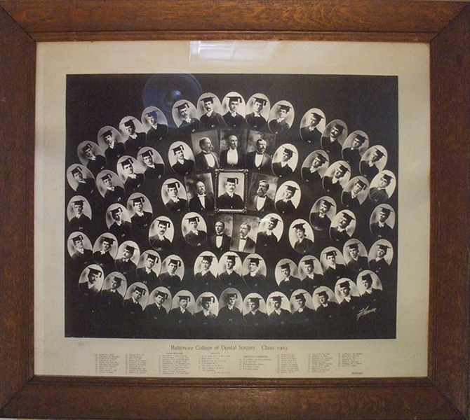 "Enormous Photograph of ""Baltimore College of Dental Surgery. Class 1903"""