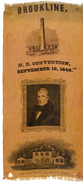 William Henry Harrison Convention Silk