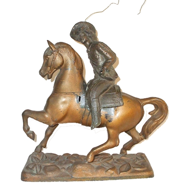 Desktop Western Statue of Horse and Cowboy Rider