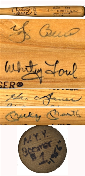 Yankees Bat Signed by the Greats of '56