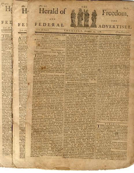Group of Nine Newspaper Issues - Each With Discussion of the American Constitution