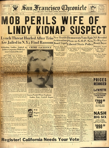 The Lindbergh Kidnapper named and Arrested
