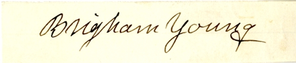 Brigham Young Autograph