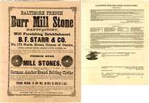 Mill-Stone Advertising Broadside and Circular.
