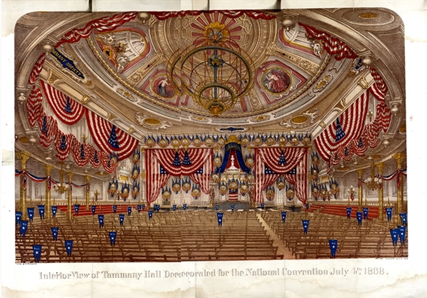 1868 Tammany Convention Hall Print