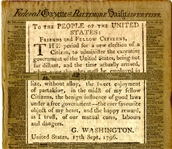 "Washington Warned of ""To Prevent the Spirit of Partisanship From Bursting into a Flame"" in This, His Farewell"