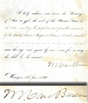 Document Signed by President Van Buren