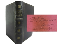 Millard Fillmore signed book, Register of all Officers and Agents