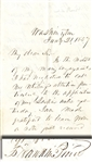 Franklin Pierce Letter As President