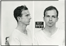 Lee Harvey Oswalds Dallas mug shot, limited edition print from original negative!