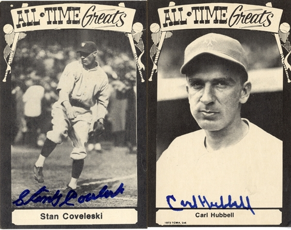 Two Old Timers Signed Cards