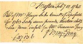 Colonial Receipt for Payment