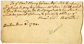 Revolutionary War-date Voucher For Soldier Who Served At Valley Forge