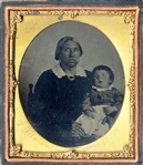 Mammy and Child With Etched Identification