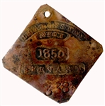 Scarce Charleston Slave Tag
