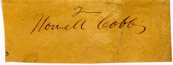 Howell Cobb - Clipped  From Free Frank