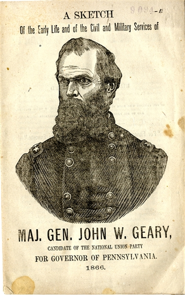 His Canidacy  For Governor Pennsylvania 1866 Was Successful