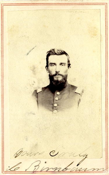 CDV of  Iowa Captain - POW