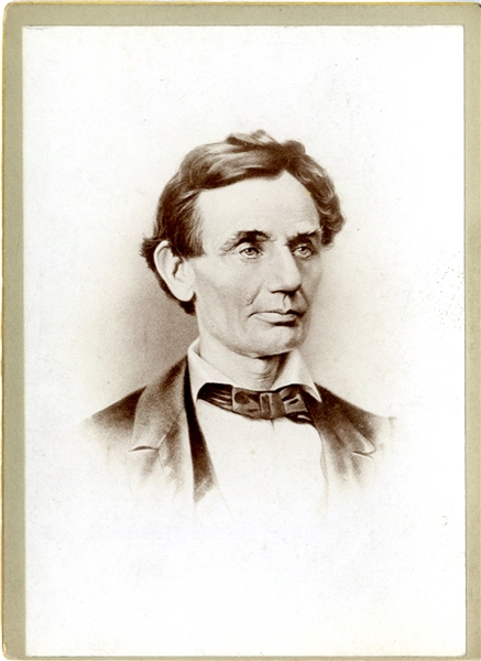 Scarce Cabinet Card Photo - Lincoln