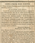 A Confederate Newspaper Prints Lincoln's Response to Horace Greeley's Anti-Slavery Editorial