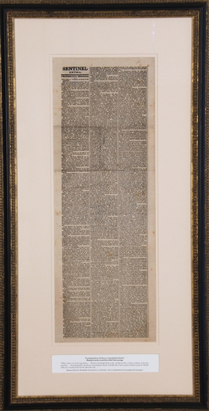 Broadsheet of Lincoln's 1862 State of the Union Message