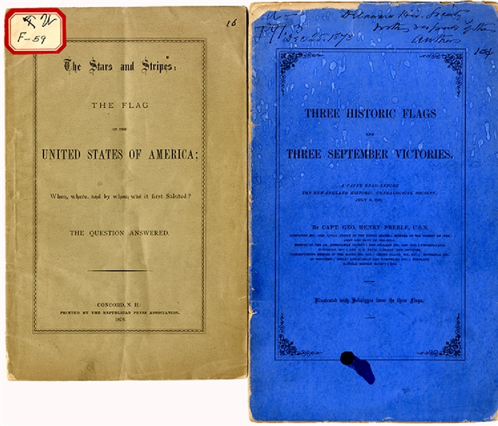A Pair of American History Flag Booklets