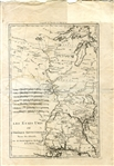 French Printed map of Louisiana