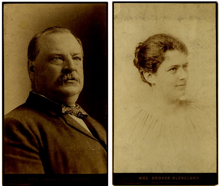 Large Panel Card Photographs Of The Cleveland's In 1892