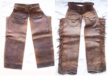 100 Year Old Heavy Leather Chaps