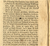A Proclamation by General George Washington, Morris-Town - 1777