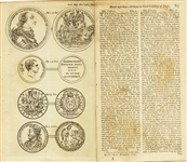 Copper Engravings Of Early Coins  1784