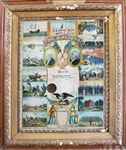 Patriotic Sons of America - Chromolithographic Membership Certificate
