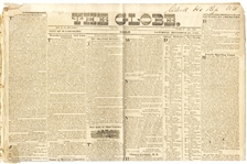 Early Washington DC Newspaper Group With Runaway Slave Ads